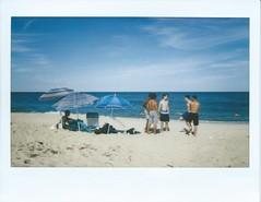 Joel-Lucas-Kai-Diego-Lorelli - Beach (sammylevy) Tags: summer umbrella shore newjersey longbranch beachday skateboard skaters skater skate homies dawgs gang squad polaroid beach