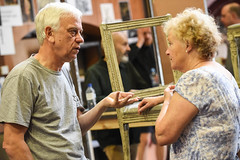 Michael Garner and Sue Wallace play Lorry and Miss Pross/ Mrs Keating (TheatreCloud) Tags: a tale two cities charles dickens twocitiestour uk theatre tour 2018 play adaptation rehearsals rehearsal shots first look james dacre