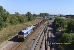 66711 Sharnbrook 23rd August 2016 (Lorenzo's Modern Traction) Tags: class 66 66711 sence 6z59 tonbridgewestyard wellingborough sharnbrook junction mml