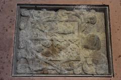 Escut dels Peguera al Santuari de Foix (esta_ahi) Tags: torrellesdefoix santuari santuario foix sdf ipa4878 lpida sepulcre escut peguera crulles pins peneds barcelona spain espaa