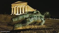 Valle dei Templi , Agrigento, Sicily (William Sicorello) Tags: sicily sicilia sculpture temple tempio agrigento italia italy colour black colorful landscape