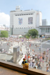 Travels of badger - 'The Scramble' of Tokyo's Shibuya Crossing (enigmabadger) Tags: brickarms lego custom minifig minifigure fig accessory accessories japan asia vacation trip travel outdoors japanese