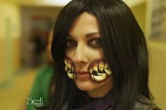 D&G cosplay as Mileena from Mortal Kombat X, by SpirosK photography (SpirosK photography) Tags: dgcosplay cosplay mortalkombat motralkombatx mkx game videogame videogamecharacter mileena portrait makeup teeth