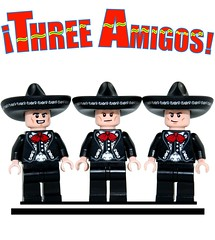 Lego Three Amigos! (XxDeadmanzZ) Tags: steve martin lucky day short ned nederlander chevy chase dusty bottoms lego three amigos
