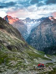 Soreiller Camp (olivier duchene) Tags: mountains climb sky sunset camp landscape