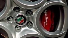 Alfa 5 hole alloys and Brembo calipers (35mmMan) Tags: alfa romeo alloy wheel brembo italian disc brakes calipers red giulietta lameccanicadelleemozioni rosso corsa