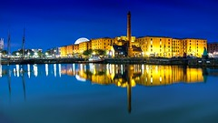 Rhapsody in blue (saile69) Tags: reflection waterfront water albertdock thealbertdock bluehour liverpool