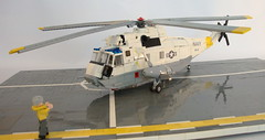 SH-3H Sea King ([Maks]) Tags: lego moc sh3 sea king sikorsky helicopter rotor aircraft carrier based navy us military minifig scale