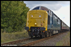 No 55007 (022) Pinza 28th Aug 2016 NVR East Coast Revival (Ian Sharman 1963) Tags: no 55007 022 pinza 28th aug 2016 nvr east coast revival class 55 deltic 55022 royal scots grey diesel engine railway rail railways train trains loco locomotive passenger nene valley heritage line wansford peterborough nv station
