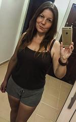 Good hair day (Melissa Maples) Tags: antalya turkey trkiye asia  apple iphone iphone6 cameraphone me melissa maples selfportrait woman brunette reflection photographer mirror summer