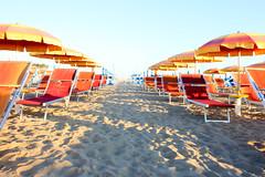 Rimini Marebello (krisztina.sonkoly) Tags: rimini riminibeach riminisunrise sunrise riminimarebello marebello sand sunbeds umbrella italy