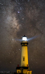 Pigeon Point Lighthouse - Mars - and the Glactic Center (Rick Whitacre) Tags: pigeonpointlighthouse pigeonpoint milkyway lighthouse night nightphotography galacticcenter mars stars