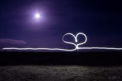(H) (--marcello--) Tags: moon night light heart selftimer sardinia sardegna stagno oristano sale pond salt