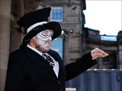 DSC_7829a - The Edinburgh Fringe - Alice - The Mad Hatter (henryhulley) Tags: fringe edinburgh mad hatter madhatter alice street performer man costume fringe2016 nikon nikonuser art dance dancer stage peoplewatcher portrait