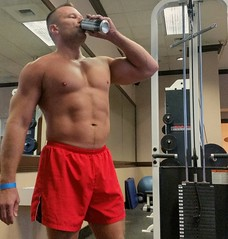 Protein shake (ddman_70) Tags: shirtless muscle pecs gym