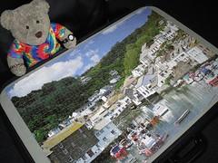 Sailin', I am sailin'...   (pefkosmad) Tags: jigsaw puzzle leisure hobby pastime soft stuffed toy plush fluff cute tedricstudmuffin teddy ted bear 1000pieces complete