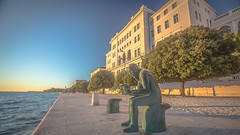 Zadar University and the statue of piro Brusina (DC P) Tags: the statue front university zadar is that piro brusina born 1845 he was an expert natural sciences founder ornithology croatia zoologist explorer cultural public official another curious fact leading member croatian chapter freemasons monument hrvatska boulevard sunset city street streetview streets waterfront water culture blue hour trip explore freemason canon eos