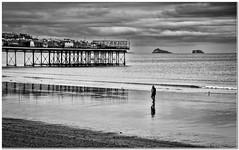 Early morning stroll (Hugh Stanton) Tags: pier sunrise beach reflection islands appickoftheweek