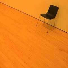 reserved for a wallflower (msdonnalee) Tags: chair chaise silla stuhl cadeira minimalism minimalismo minimalisme orange