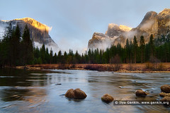 El Capitan Over the Merced River, Gates of the Valley, Yosemite Valley, Yosemite National Park, California, USA (ILYA GENKIN / GENKIN.ORG) Tags: california travel trees vacation sky usa cloud mist mountain snow mountains southwest west tree tourism nature rock misty fog stone clouds america forest landscape outside outdoors us nationalpark scenery skies view unitedstates cloudy outdoor hiking famous perspective foggy scenic merced scene icon tourist lookout boulder alpine american valley yosemite area western granite vista northamerica destination yosemitenationalpark wilderness elcapitan picturesque iconic attraction yosemitevalley mercedriver gatesofthevalley