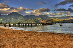 Hanalei Pier HDR 9/1/12 (gregnutterocc) Tags: hawaii kauai hdr hanaleibay