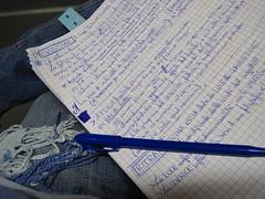 Blu(e) note(s).- (silvialuna (kAreN eLioT)) Tags: photography notes blu corso fotografia appunti azzurro esposizione attenzione closely silvialuna
