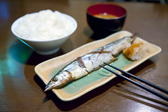 Grilled pike set meal  (DigiPub) Tags: pike onsale gettyimages   setmeal japanesecuisine   pacificsaury
