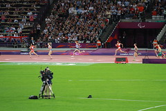 Athletics, Olympic Stadium, Olympic Park - 6 September 2012 (Evening) (photosmr) Tags: 6 london field evening athletics track september final finals olympic olympics olympicstadium chen 2012 t38 paralympics trackandfield london2012 paralympic 6september womens200m goncharova stryzhak margaritagoncharova paralympicstadium womens200mt38 junfeichen innastryzhak