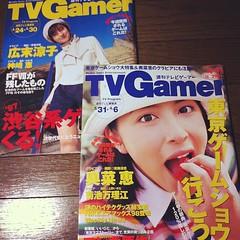 週刊テレビゲーマーの創刊号(広末涼子)と創刊二号(奥菜恵)。いい具合に発酵してます。