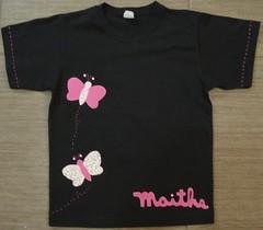 Borboleta rosa (Kaasf) Tags: artesanato artesanal patch patchwork camiseta customizada estilizada patchcolagem caamis patchapliqué patchapliqueé