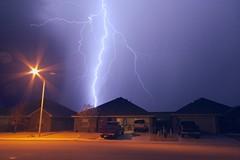 Lightning Strikes (Pimento Of Doom) Tags: longexposure light storm clouds evening texas tx lightning midland sigma1020mmf456