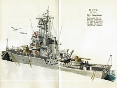 P22 Tagomago (Luis_Ruiz) Tags: art port puerto boat sketch ship harbour drawing navy vessel armada sketchbook maritime dibujo malaga patrol warship mlaga stillman p22 tagomago birn patrullero urbansketchers