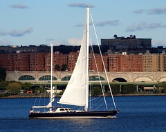 AVALON Sailing Yacht on the Hudson River, New York City (jag9889) Tags: city nyc ny newyork modern design boat sailing yacht manhattan hudsonriver luxury avalon jag9889 y2012