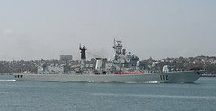 China Navy destroyer Harbin visits Ports of Auckland (AirflowNZ) Tags: newzealand destroyer auckland defence harbin haerbin chinanavy portsofauckland devonportnavalbase missiledestroyer luhuclass chinanorthseafleet multiroledestroyer