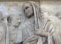 Ara Pacis, bust of Marcus Vipsanius Agrippa