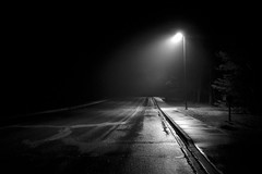 Spot (mi_kirk) Tags: travel light white black michigan parking lot spot