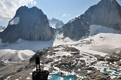 Amelie (Marko Stavric) Tags: people mountain lake snow canada mountains ice rockies view hiking spires lakes scenic columbia glacier adventure alpine amelie glaciers mountaineering british hiker activity tarn purcell scrambling purcells tarns snowpatch purcellmountains snowpatchspire