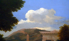 Poussin, Landscape with Saint John on Patmos, detail with cloud