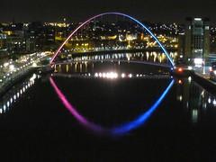 Millennium Opening Bridge - Gateshead (bertie's world) Tags: bridge millennium gaeshead