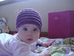 DSC04127 (k1sewtoo) Tags: baby hat infant crochet jordan flapper cloche 2012 4mos flapperhat 2012fall 2012september
