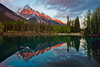 Sunset at Faeder Lake (chris lazzery) Tags: sunset canada britishcolumbia rockymountains canadianrockies yohonationalpark canonef1740mmf4l 5dmarkii