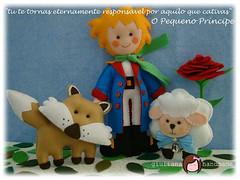 pequeno prncipe em feltro (Feltro por Lais) Tags: o feltro pequeno principe ovelha raposa