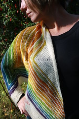 Handspun Stripe Study Shawl (sand_and_sky) Tags: wool yarn friday fiber fo shetland handspun finishedobject fieldofdreams bfl spunkyeclectic fofriday stripestudy