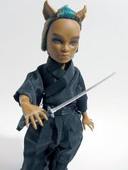 Kokurou (nonaptime) Tags: monster high doll ooak frankie custom repaint reroot clawd draculaura