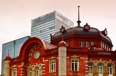 Restored Tokyo Station building (Matthias Harbers) Tags: sky station japan photoshop tokyo nikon central himmel railway bahnhof jr historic trainstation dxo restoration hdr topaz tokio laps marunouchibuilding jreast 18200mm 3xp photomatix d7000