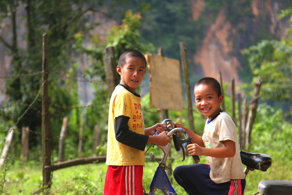 Children in the village, Muang Long, northern Laos