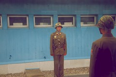 At the border (Stefan Schinning) Tags: village military south border north security korea explore area uniforms guards barracks dmz joint zone jsa truce borderguards panmunjeom explored