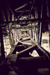 Mechanical Wormhole (Jonathan Adami) Tags: berlin station train 35mm germany fuji mechanical crane wormhole fujinon pankow urbex xp1 heinersdorf xpro1 xf35mmf14