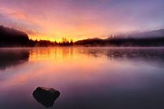 A Dawning (Northern Straits Photo) Tags: morning light red canada sunrise landscape colours bc purple britishcolumbia vancouverisland fairylake portrenfrew northernstraitsphotography ireenanieuwenhuisworthy