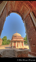 Tomb of Imam Zamin from Alai Darwaza, Qutub Complex (Mukul Banerjee (www.mukulbanerjee.com)) Tags: old sculpture india art history tourism archaeology monument beautiful architecture photography ancient nikon ruins minaret delhi muslim islam tomb landmark mosque tourist unescoworldheritagesite unesco worldheritagesite mausoleum photographs empire historical classical civilization sultan southeast dslr 14thcentury masjid cultural emperor medival newdelhi qutubminar islamic 2012 worldheritage lodhi shah qutabminar southasia d300 shahi mughal sigma1020mm mehrauli historicindia sultanate alaiminar quwwatulislam historicalindia iltutmish delhisultanate altamash imamzamin firozshahtughlaq indianheritage hindusthan alauddinkhilji qutbuddinaibak medivalindia bymukulbanerjee mukulbanerjeephotography mukulbanerjeephotography wwwmukulbanerjeecom mamlukdynasty wwwmukulbanerjeecom